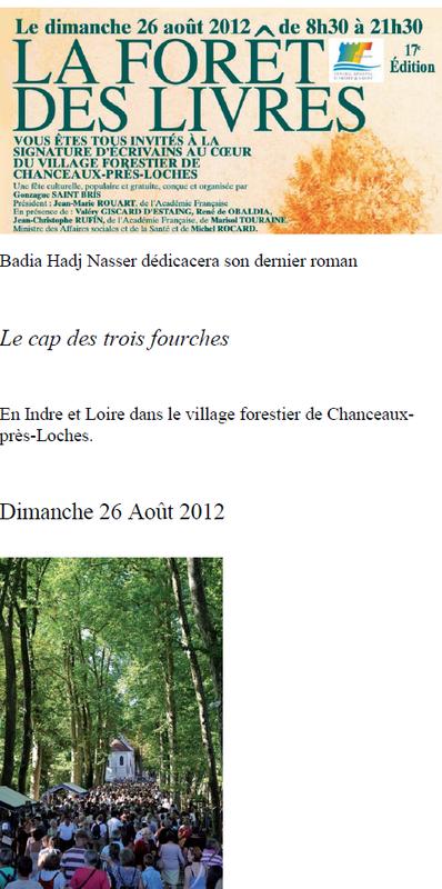 LA FORET DES LIVRES 2012 DE CHANCEAUX-PRES-LOCHES